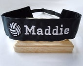 Volleyball Headband Adjustable NO SLIP Hair Bands PERSONALIZED you Choose Prints Many Sports and Patterns Available