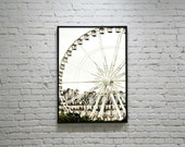 PARIS Ferris Wheel Photography, White Ferris Wheel, Paris Wheel Photo, Paris Landscape Photography, Paris Photography, Paris Architecture