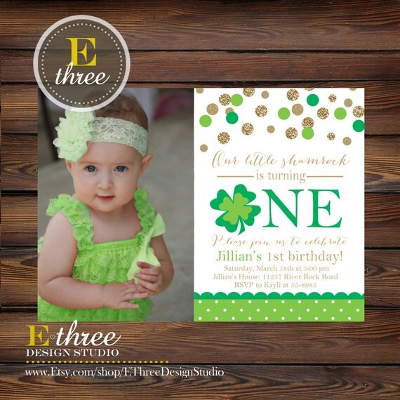 Printable St. Patrick's Day Birthday Invite