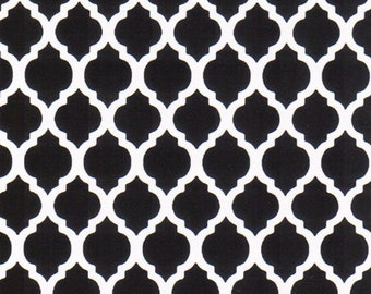 Fabric Finders Small Black Quatrefoils