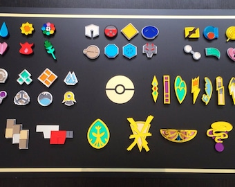 Pokemon Badges, Elite Four Collection: Kanto, Johto, Hoenn, Sinnoh, Unova, Kalos