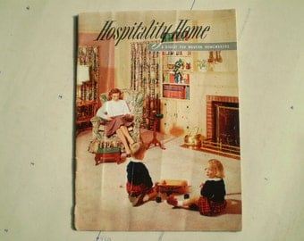 Hospitality Home - Feb. 1954 - A Digest For Modern Homemakers - Vintage Magazine with Retro Photos & Advertisements