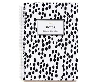 Personalized Notebook - Dalmatian Spots