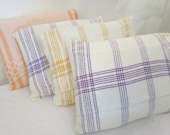 Set of 4 Handmade Linen Cushions, Primitive, Simple, Modern, Clean