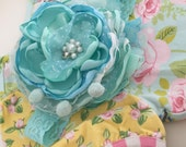 Mint Leaves Headband  made to match Matilda Jane  Hello Lovely by Cozette Couture
