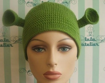 Adult woman's size Shrek hat ( ready for shipping ).