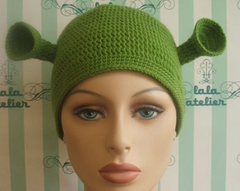 Adult man's size Shrek hat ( ready for shippng ).