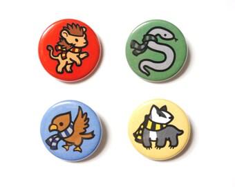 Harry Potter House Animal Button Set