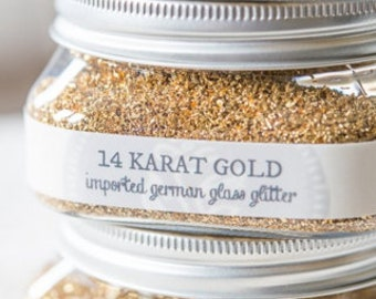 14 KARAT GOLD-Glass Glitter