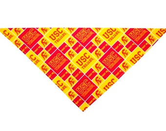 Gold USC Dog Bandana