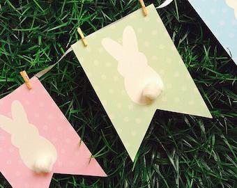 Easter Bunny Banner - you print, digital file