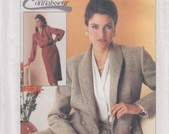 Misses Suit Pattern Lined Jacket Blouse Skirt Business Size 14 Uncut 1985 Simplicity 7079