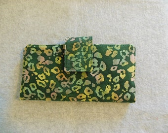 Fabric Wallet - Green Batik