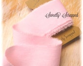 PINK Ribbon, Hand Torn ... 90 inches, Shabby Chic, Frayed, Ripped, Distressed, Worn, Scrapbooking