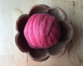 Wool roving supply for needle felting, Pink Heather, 1 ounce, pink wool roving for needle felting, DIY feltmaking craft supply, pink roving
