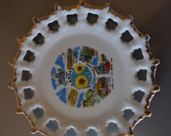 Awesome Vintage Collectable Souvenir Plate - Kansas