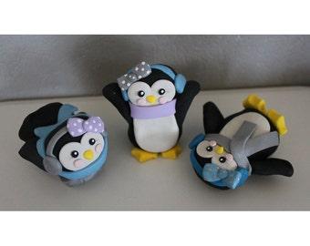 Custom Penguin Cake Toppers for Birthday or Baby Shower