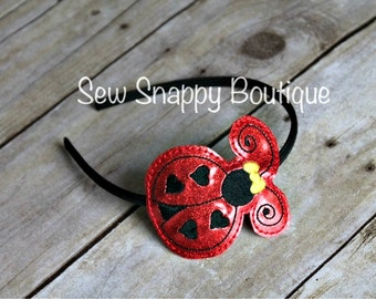 Ladybug Headband - Girls or Toddler