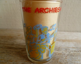 Archie Comic Glass The Archie's Jam Session 1970's