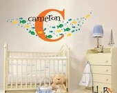 School of Fish stickers - Personalized name decal - Nursery, childrens decor