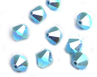 Turquoise Swarovski Crystal Bicone Beads AB2X 6mm (12)