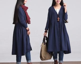 Trench Coat cotton coat cloak jacket Winter Jacket Outerwear Coat Autumn coat