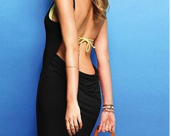 BLACK COVER UP- summer Dress-swimsuit cover