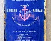 5x8 wedding invitation decoupage plate
