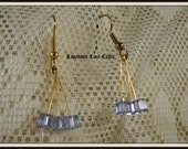 Swarovski Cubes Earrings in Blue