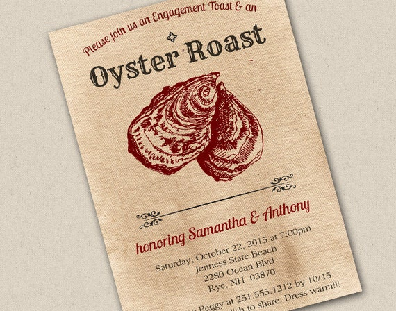 Oyster Roast Invitations Related Keywords - Oyster Roast ...