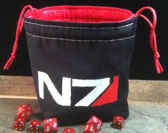 Mass Effect inspired Dice Bag