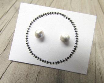 nugget studs sterling silver organic stud earrings