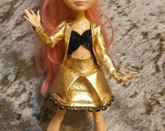 Jacket, top and skirt set for Monster and ever after dolls