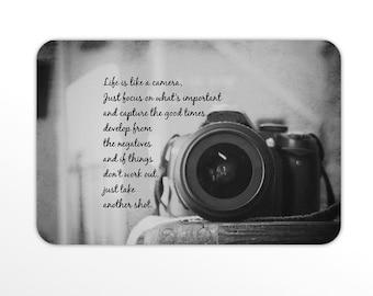 Magnet photography Bumper camera Photographer quote Still life lens art Refrigerator kitchen Life like camera focus important develop