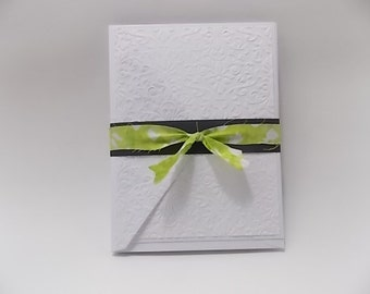 Embossed Blank Card Set