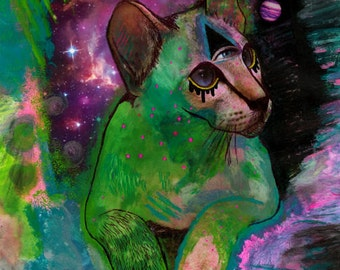 Cosmic Intergalacticat - Fine Art Archival Print on Heavy Weight Matte