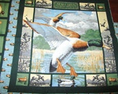 MALLARDS in the MARSH DUCK PiLLOW PANeLS or QUiLT SQUAReS