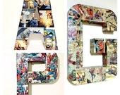 Pick 3--Large Comic Book Letter, Pop Art, Custom Made 12 inch