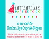 Number/Age Cut Out Cupcake Toppers | Printable A la Carte Party Single | Amanda's Parties To Go