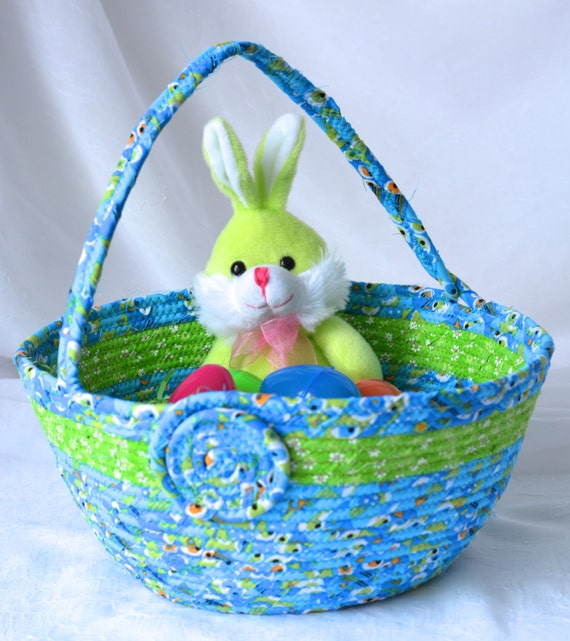 Boy easter bucket handmade easter basket blue easter basket - Custom made easter baskets ...
