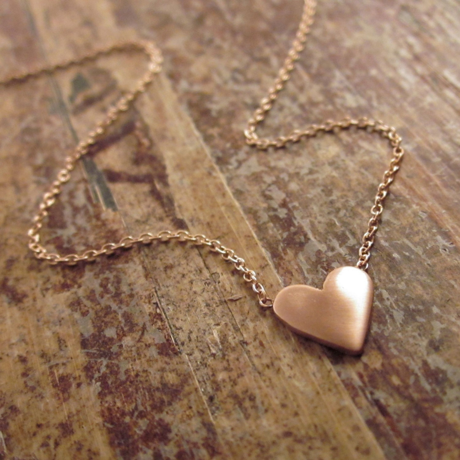 Rose Gold Heart Necklace Rose Gold Heart Necklaces Womens Gift