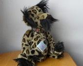 "Vintage Bosky Bear - 1990's Artist Bear - Hamish - Leopard skin Faux Fur Bear - 20"""