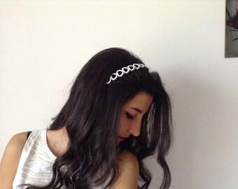 Bridal Hair Accessory, white, headband, Wedding hair Accessory, handmade, custom design