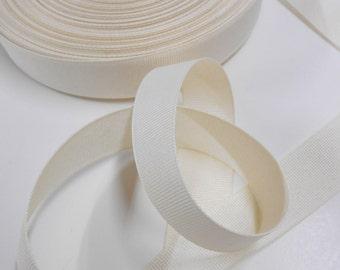 Inch Wide Grosgrain Ribbon, Ecru Grosgrain, Sewing Notions, Craft Supplies, 5 yards Beige Ribbon