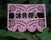 Paper Lace Custom Name Banner Papel Picado Wedding Baby Announcement Shower Bridal Engagment