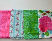 Jennifer Paganelli Happy Land Fabric Bundle, Eloise, Detash, Pink Blue Green White, Spring, Large Floral Fabric, Quilting Cotton Girls