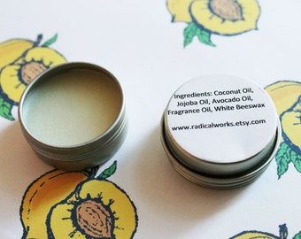 Apricot Solid Perfume - Scented Natural Perfume - Cologne - Perfume Samples - Coconut Oil - Avocado Oil - Beeswax