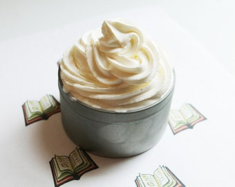 Library Whipped Soap - Scented Vegan Glycerin Cream Body Soap
