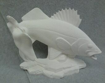 Ceramic Walleye Bisque (unfinished)