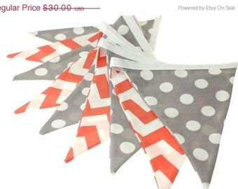 Popular Items For Coral Chevron Fabric On Etsy